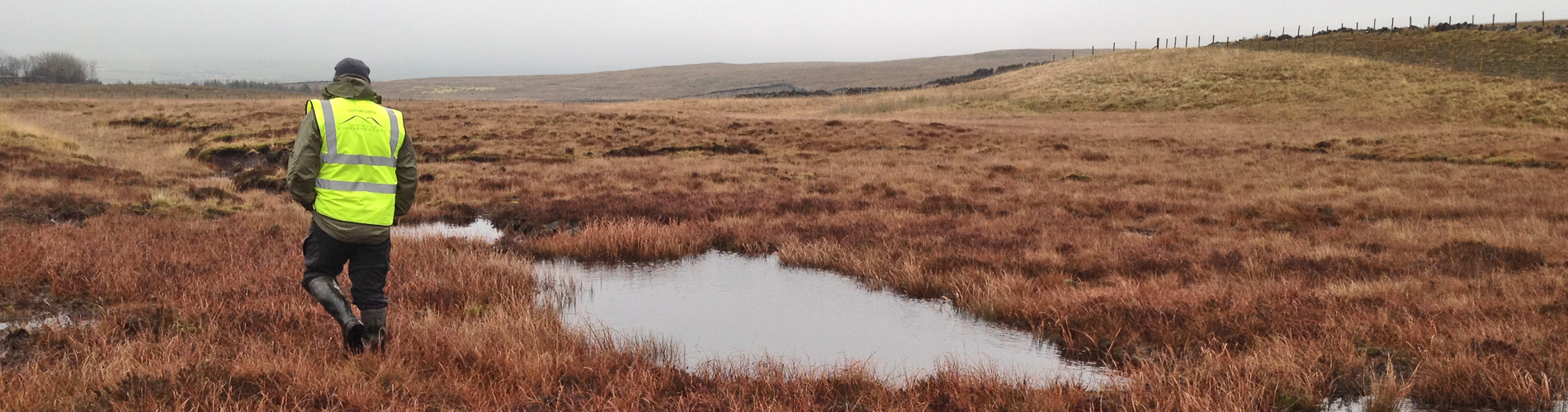 full range of specialist contract services in peatland restoration.